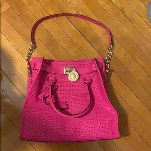 Hot pink Michael Kors tote bag